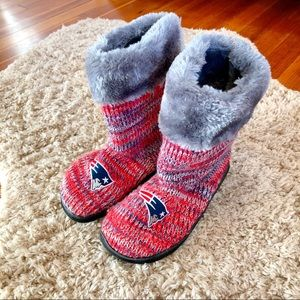 New England Patriots Knit Boots Slippers Uggs